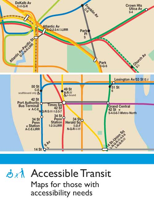 New York City Navigating Subway Map.Accessible Transit New York City Subway Update Urbnblog