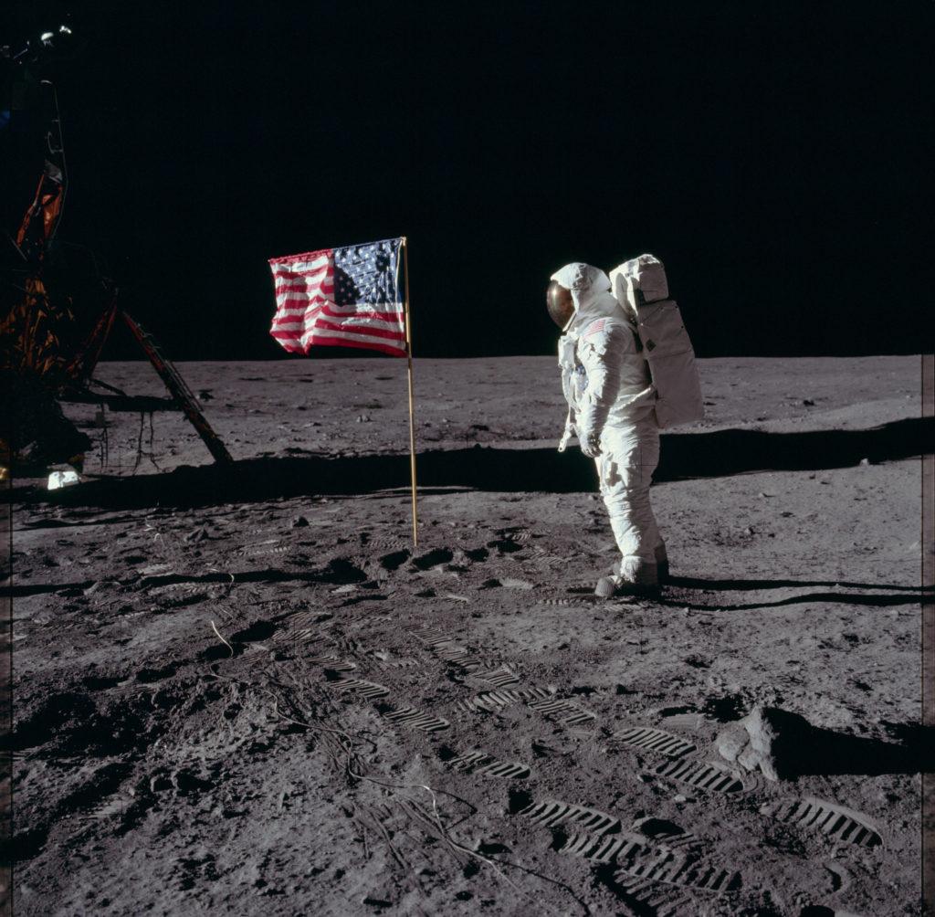 Apollo 11 Hasselblad image from film magazine 40/S - EVA